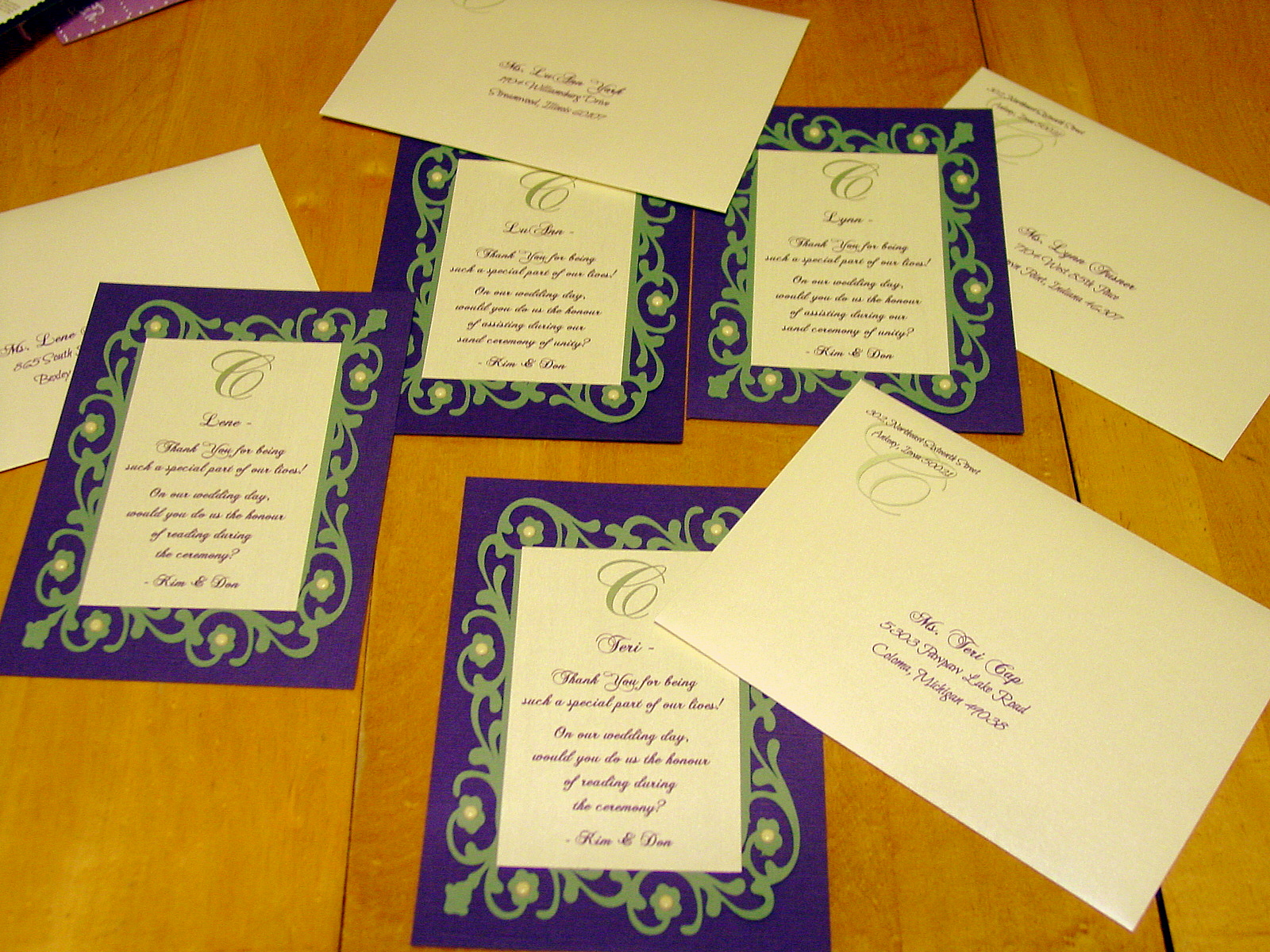 Kim and Don - Wedding Party Invites