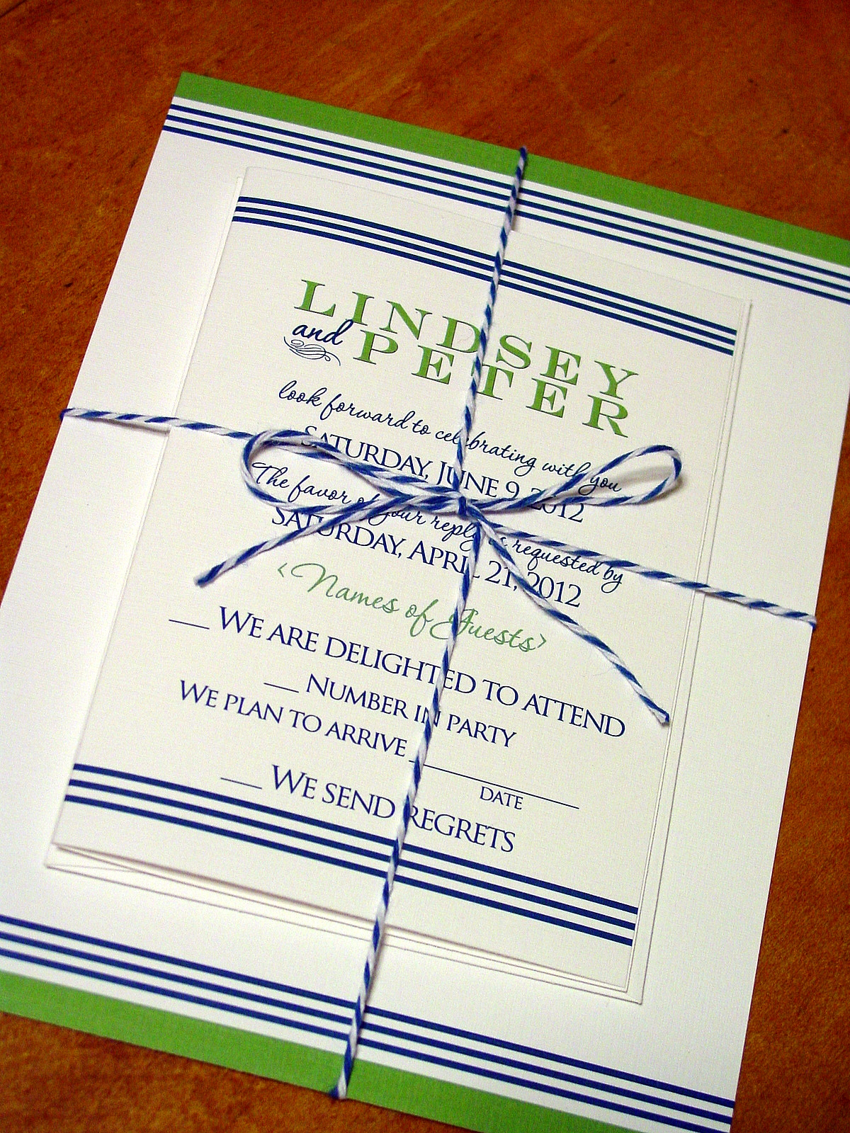 Lindsey and Peter - Invitations