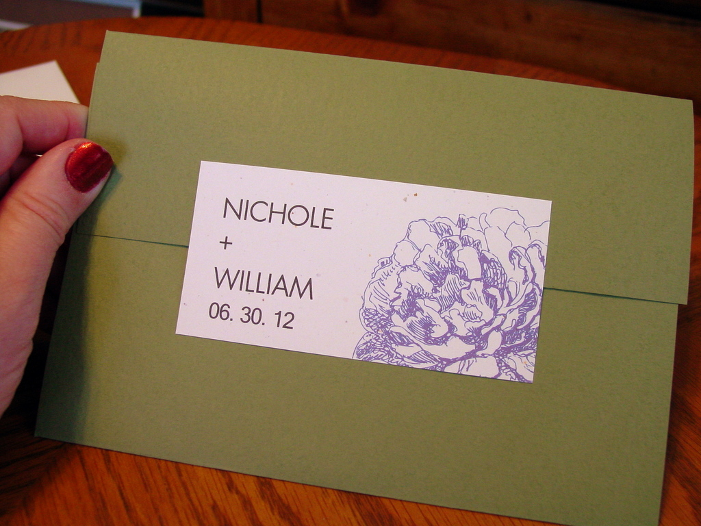 Nichole and William - Invitations