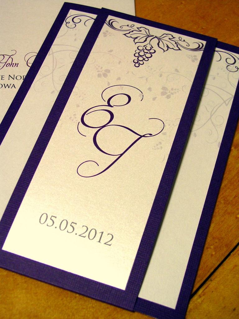 Elissa and John - Invitations