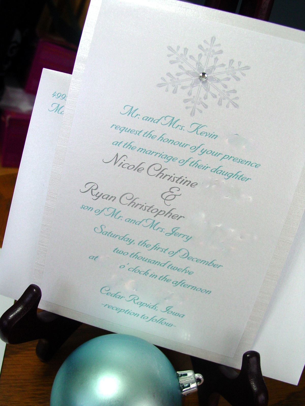 Nicole and Ryan - Invitations