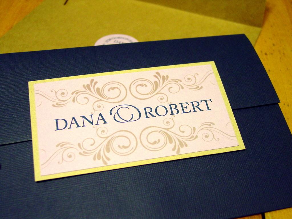 Dana and Robert - Invitations