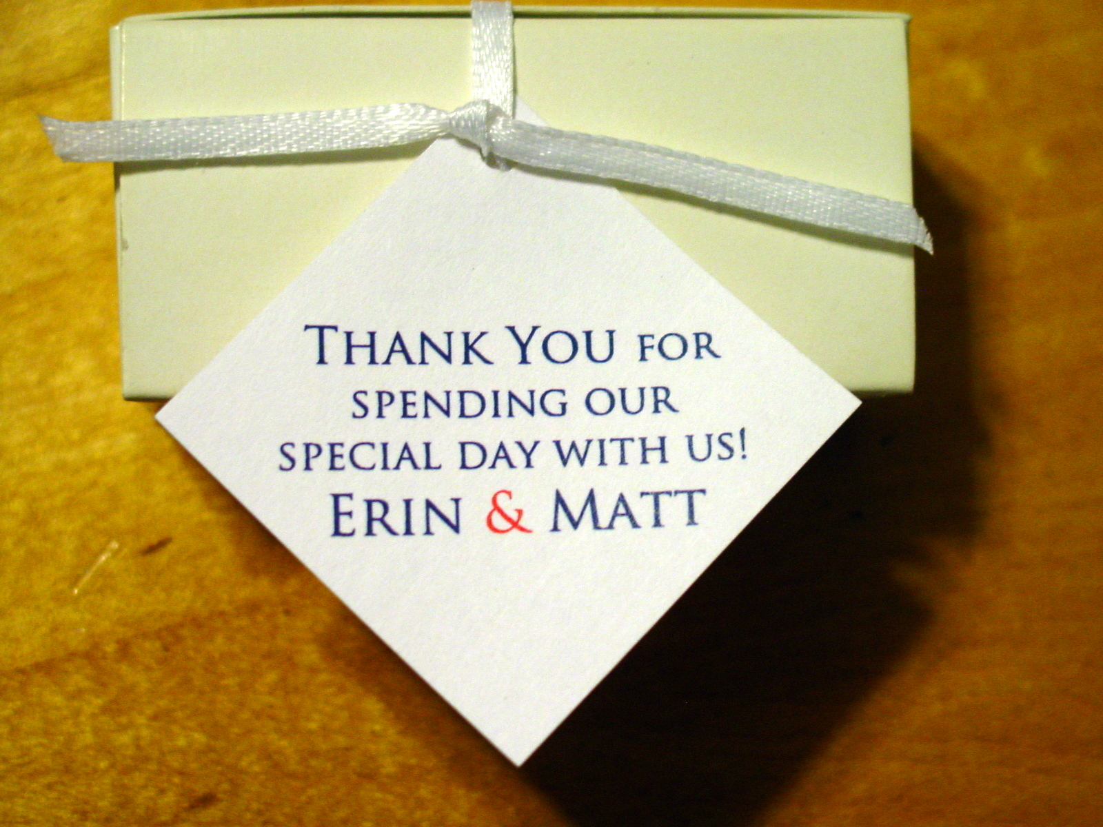 Erin and Matt - Favor Tags