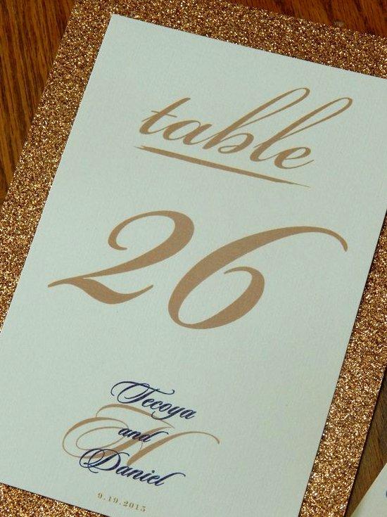 Tecoya & Daniel - Table Numbers