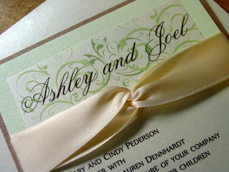 Ashley and Joel - Invitations