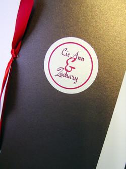 Cie Ann and Zach - Invitations