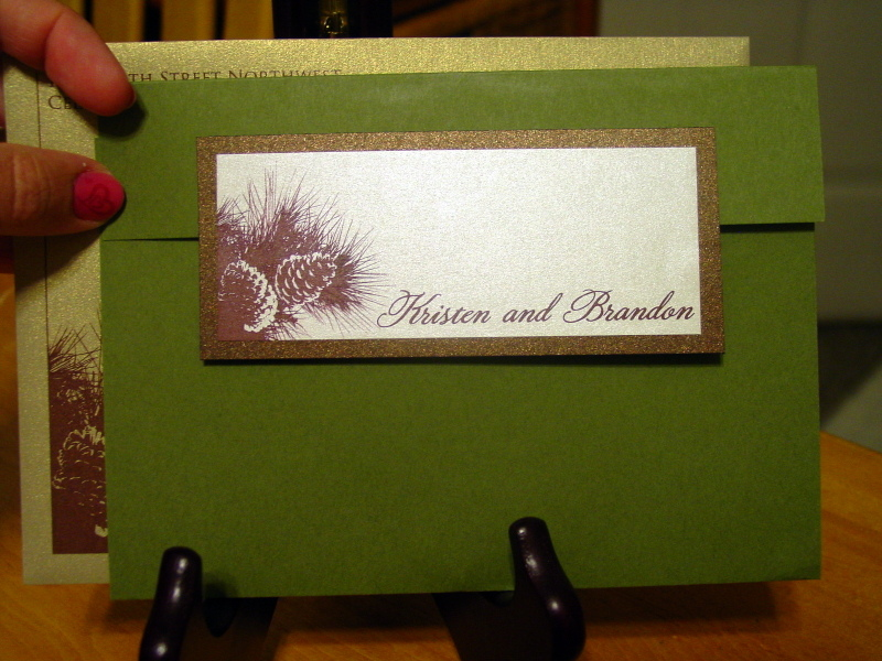 Kristen and Brandon - Invitation