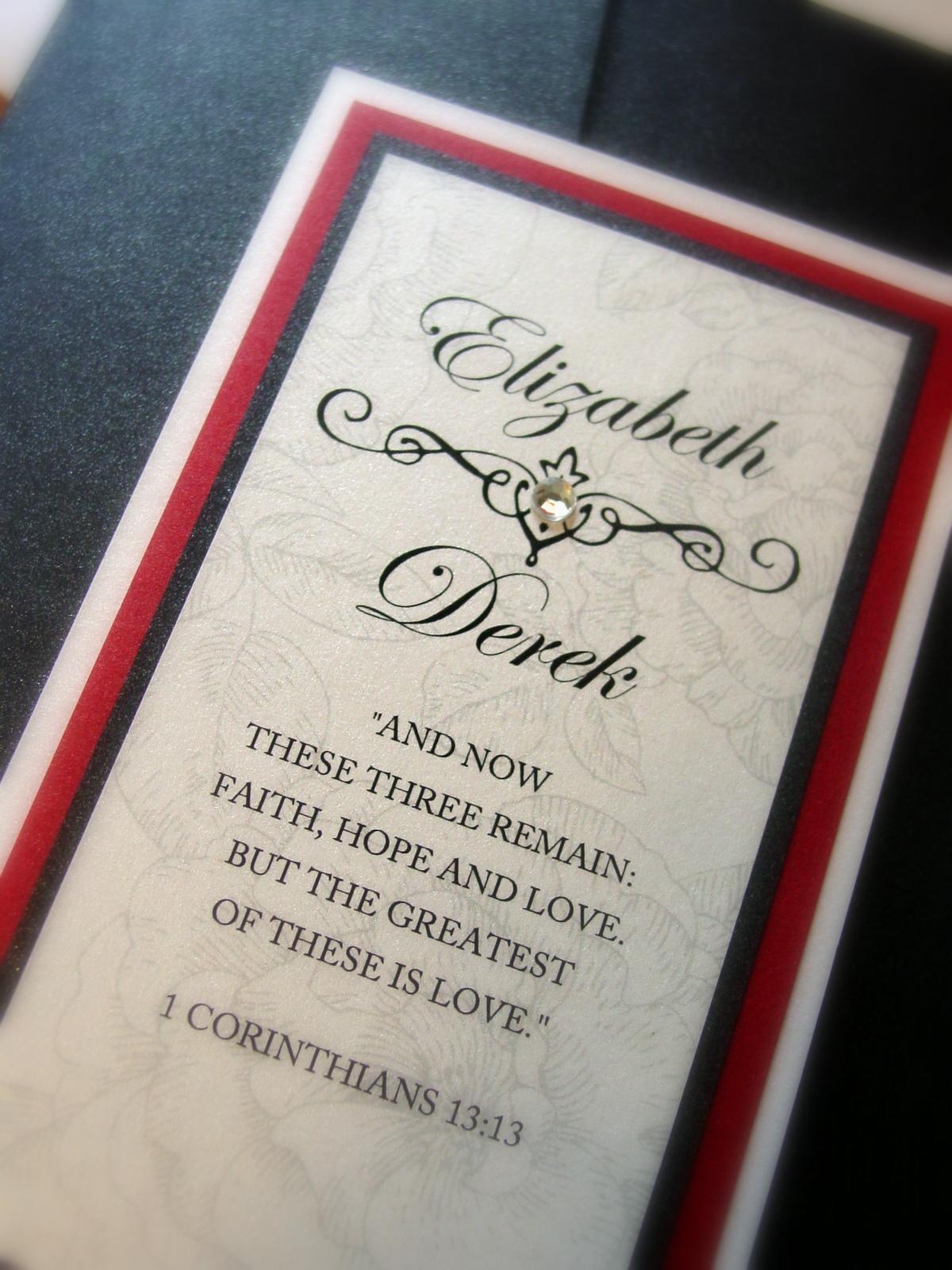 Elizabeth and Derek - Invitations