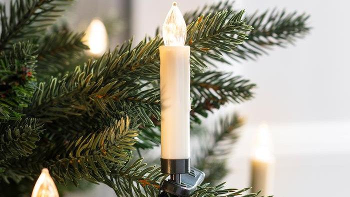 10 Warm White LED Christmas Tree Candle Lights
