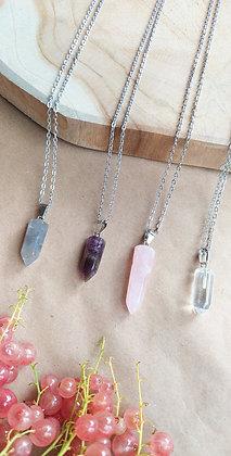 ALIZÉE en quartz rose, améthyste, cristal de roche et quartz fumé