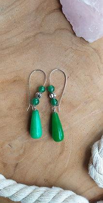 SANDRA en jade vert