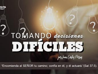 ¿Tomando decisiones dificiles?
