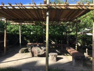 竹の日よけの修繕
