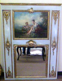 18th C. French Painted Trumeau