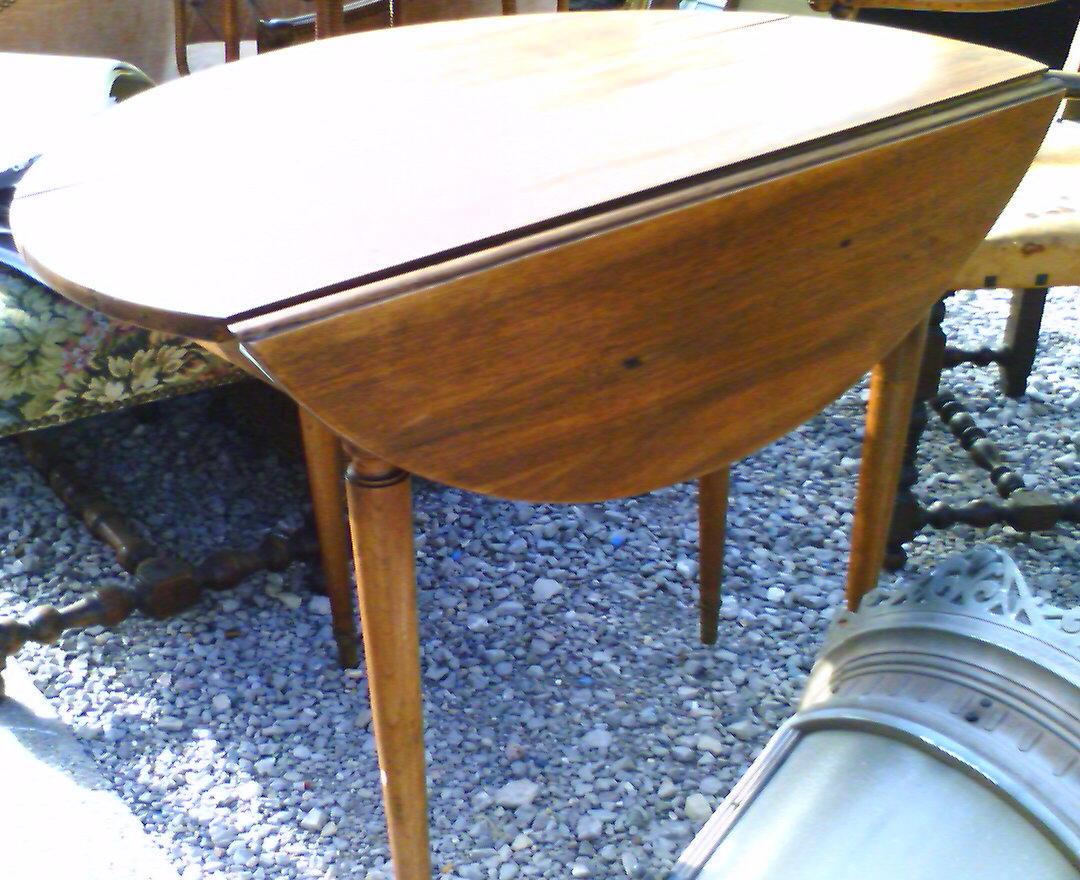 French walnut  drop leaf table
