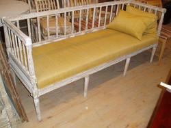 18th C. Painted Swedish Bench