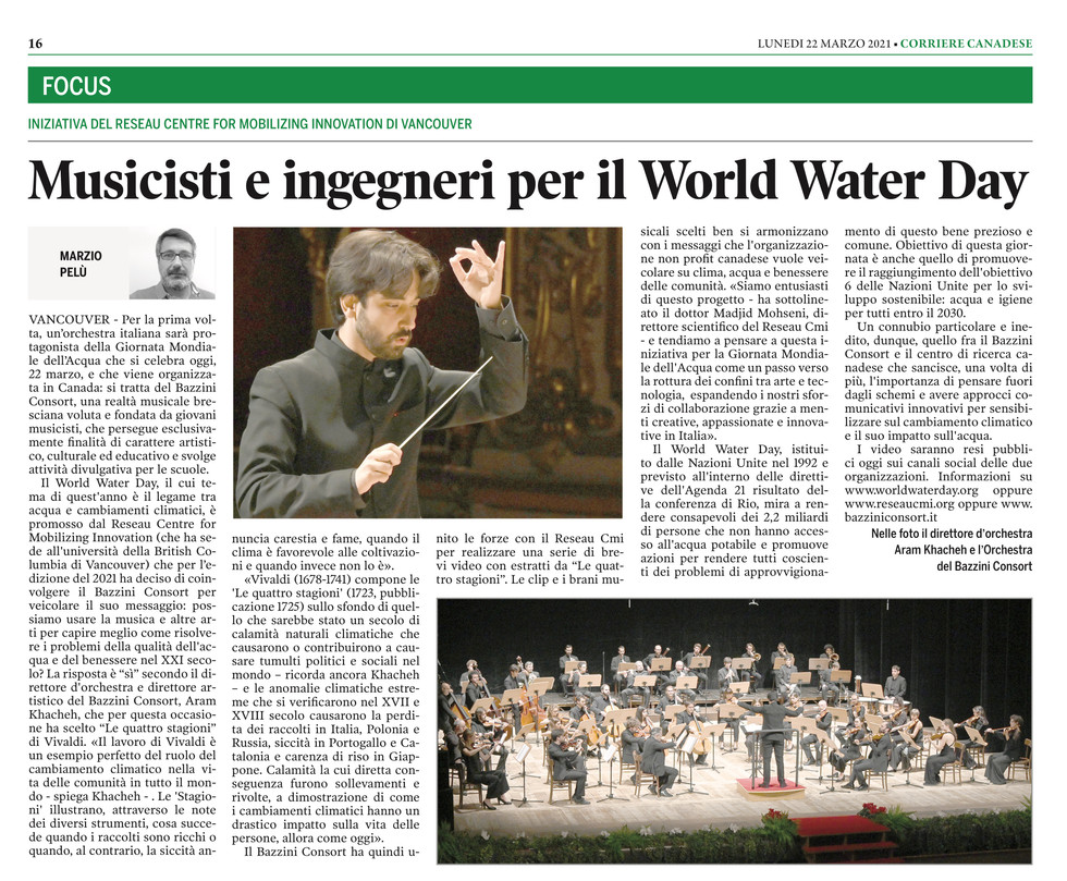 Corriere Canadese - 22/03/2021