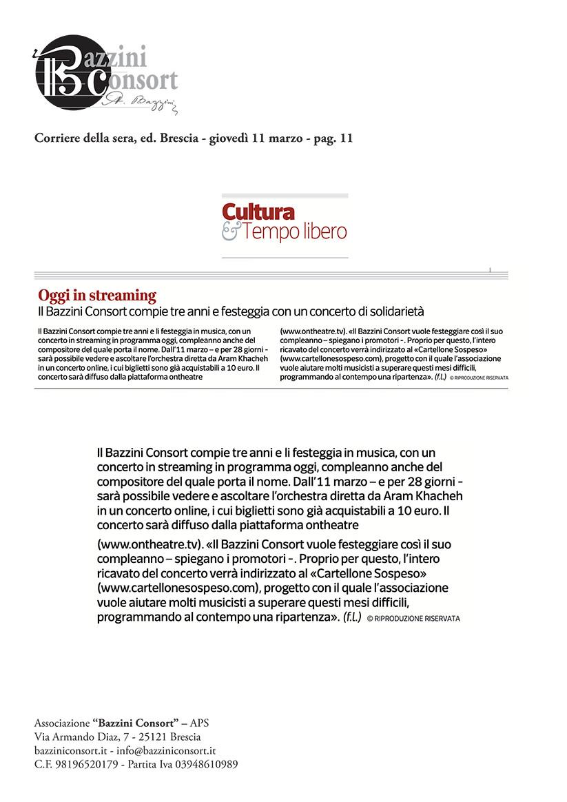 Corriere della Sera - 11/03/2021