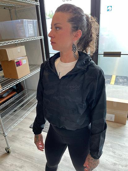 Women's Granola Gang Cropped Windbreaker Hoodie