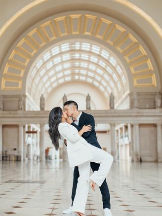 Power Couple Engagement at Union Station   Washington, DC