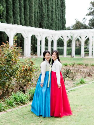 Sisters in Korean Hanbok | Los Angeles, CA