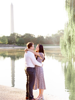 Sunrise Engagement | Constitution Gardens, Washington, DC