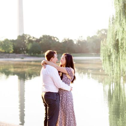 Sunrise Engagement   Constitution Gardens, Washington, DC