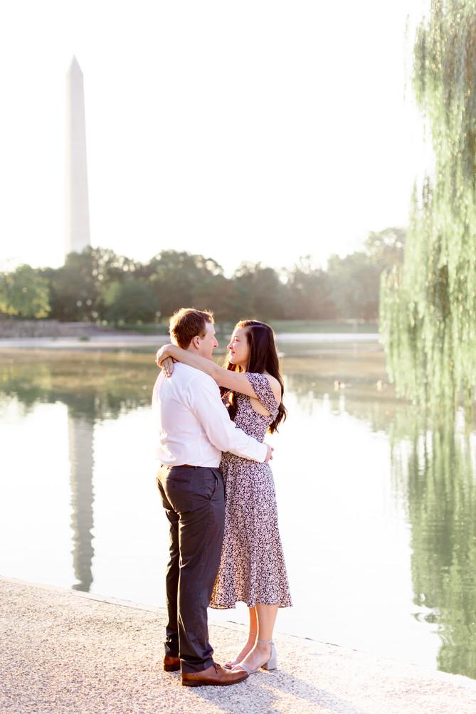 Constitution Gardens Sunrise Engagement
