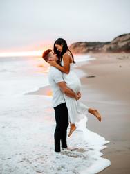Barefoot Engagement at Sunset | Laguna Beach, CA