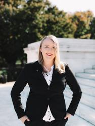 Masters Graduate at Jefferson Memorial   Washington, DC