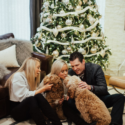 In Home: Family + Fluffy Pets