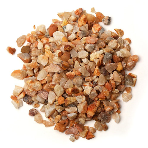 Orange coloured pebble chips available in Chennai India. Stozo pebbles - Walkways, gardens, plants, pots, pools and fish tank