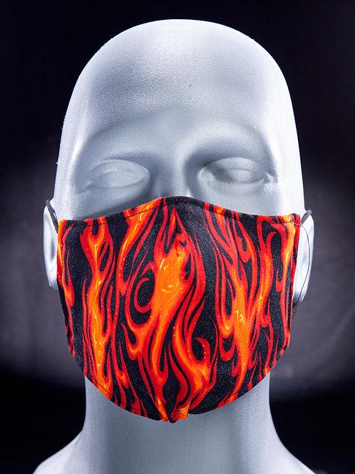 Red Flames & Orange Texture (Reversible)