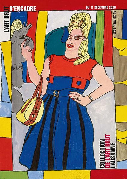 """Affiche de l'exposition """"L'Art Brut s'encadre"""" - décembre 2020 - avril 2021 - Collection de l'Art Brut - Lausanne"""