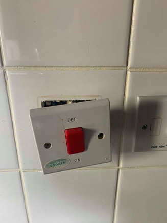 faulty cooker swich power socket install