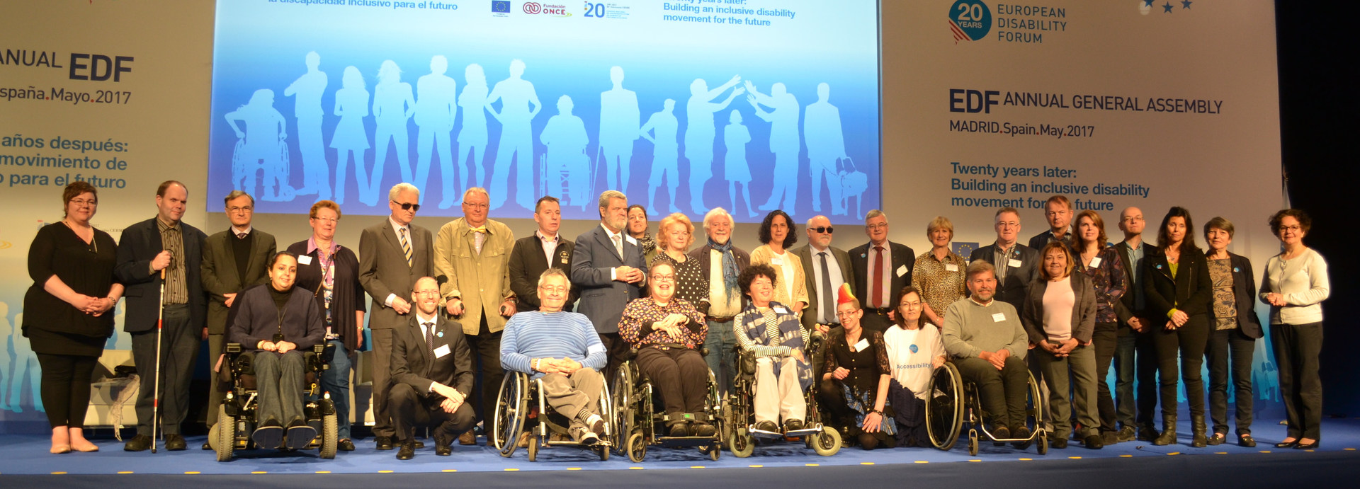 European Disability Forum (EDF) Board - Madrid, Spain - May 2017 - ☝ ⏎