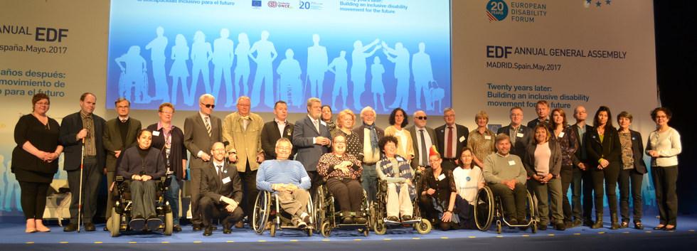 European Disability Forum (EDF) Board - Madrid, Spain - May 2017 - ☝ ⏎
