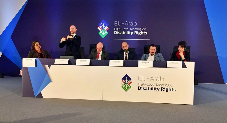Presentation on best practices in implementation and monitoring CRPD (article 33) at the EU-Arab High Level Disability - Malta - April 2019