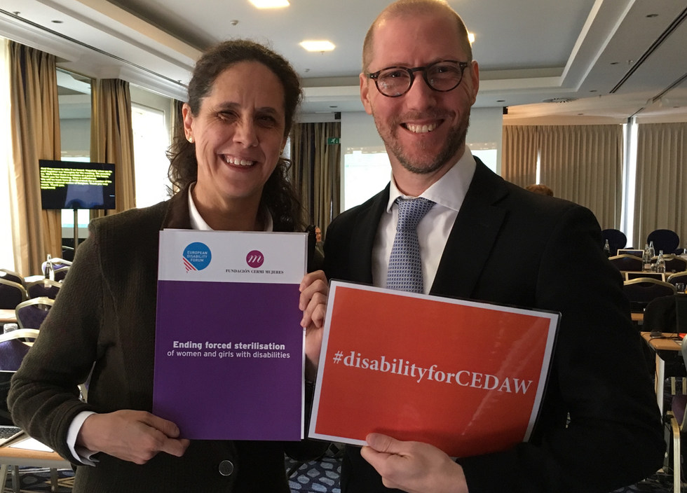 Supporting Ana Peláez Narváez from Spain who became the first woman with disabilities elected at the Committee on the Elimination of Discrimination against Women (CEDAW) -  March 2018 - ☝ ⏎