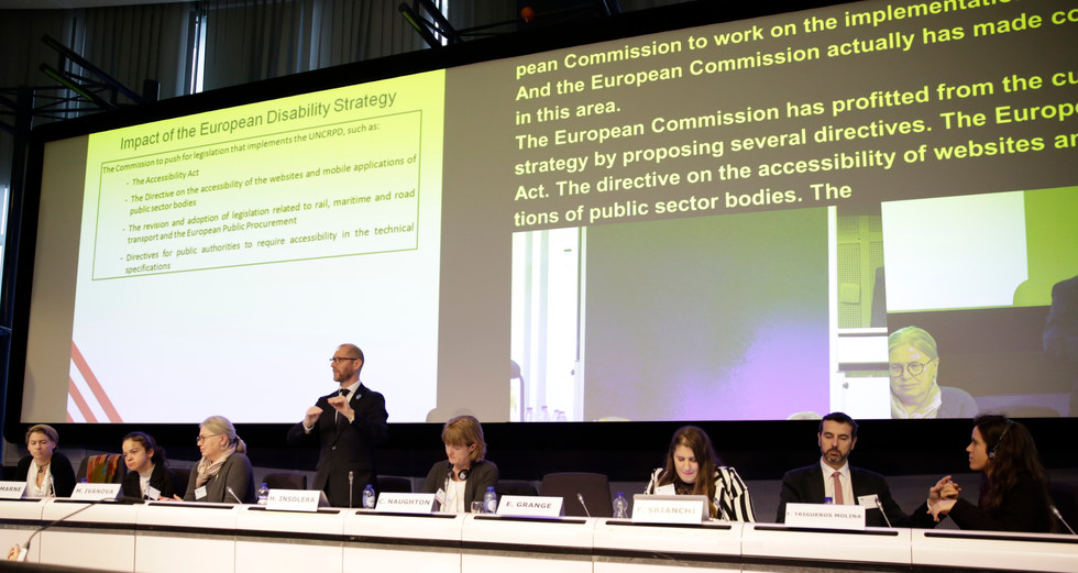 Presentation about the impact of the European Disability Strategy and the future following the UN CRPD at the European Commission - Brussels, Belgium - December 2018 - ☝ ⏎