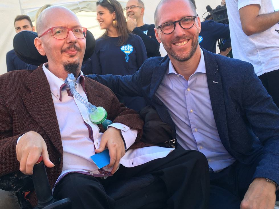 With Andrea Venuto, Disability Manager of Roma Capital, discussing about Universal Design - Roma, Italy - September 2018