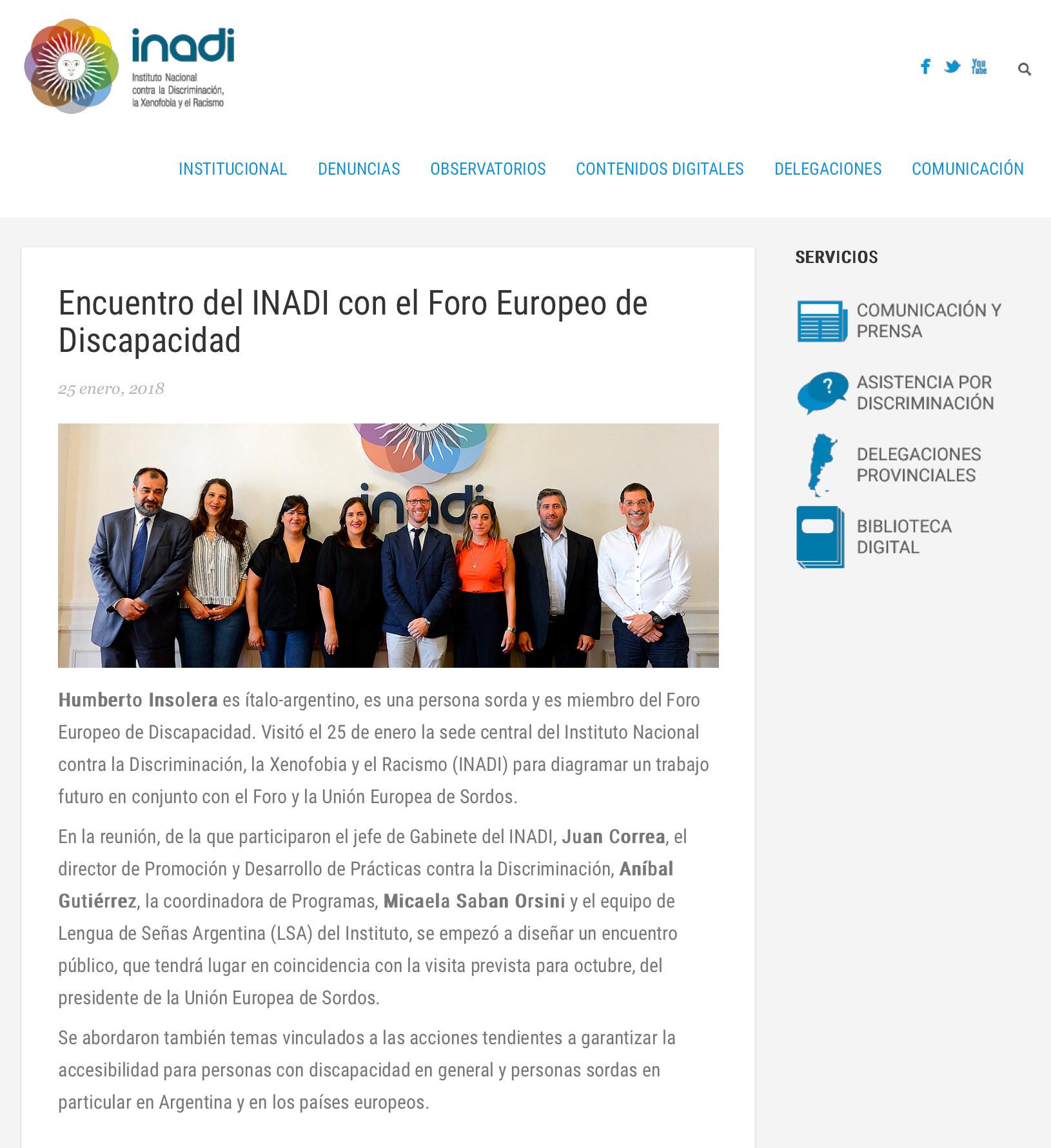 4. EDF & Internat Coop Encuentro_del_INADI_con_el_Foro_Europeo_