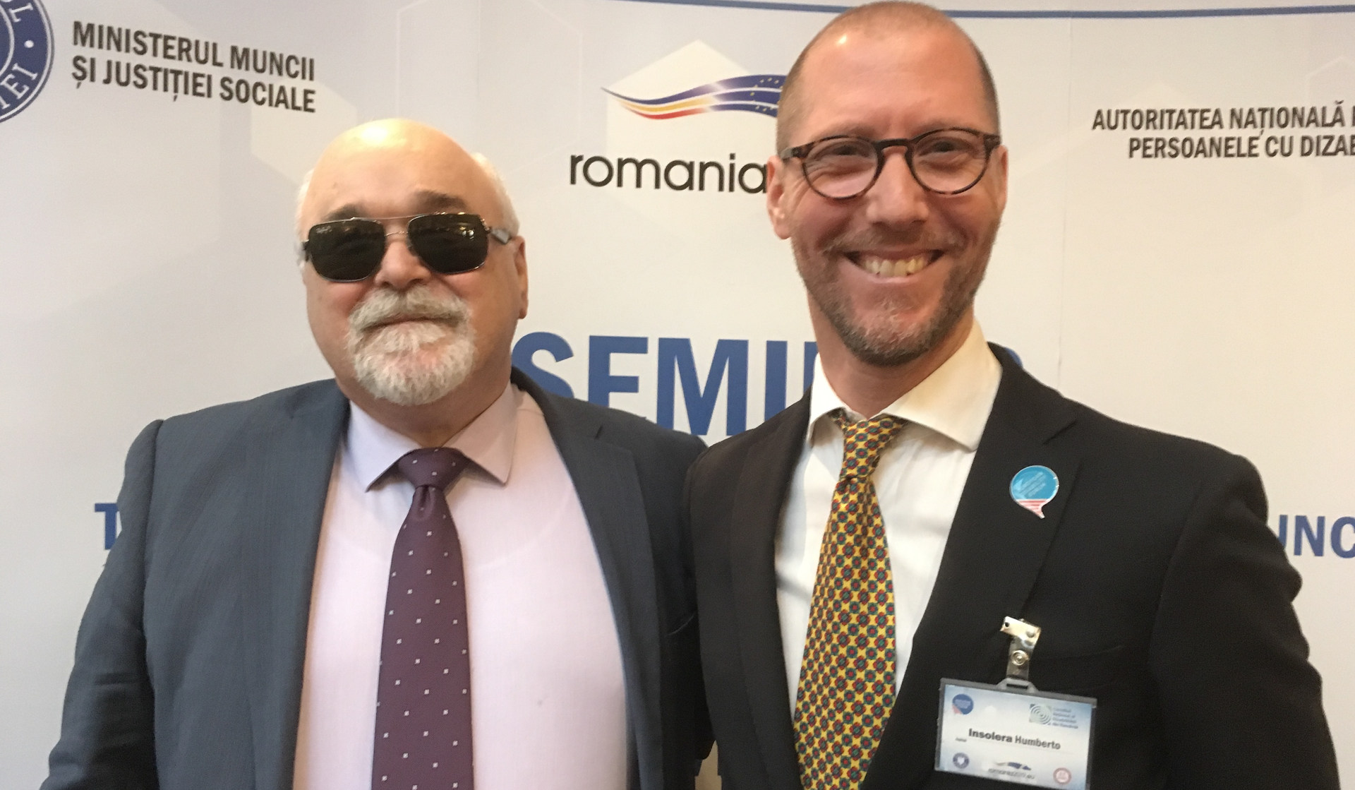 With Yannis Vardakastanis, our European Disability Forum (EDF) President, and International Disability Alliance (IDA) Treasurer