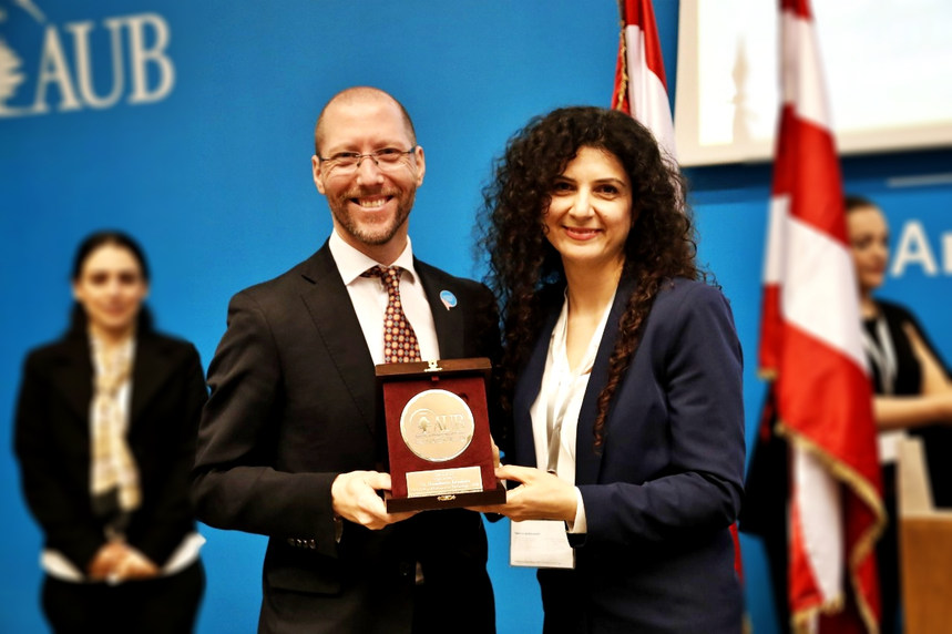 Honored to received this Award from American University of Beirut (AUB) to show their appreciation for my involvement in the ABLE Summit 2019 - Beirut, Lebanon - April 2019
