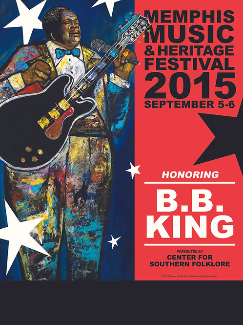 2015 Memphis Music & Heritage Festival Poster