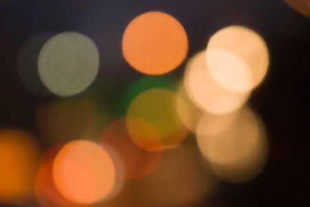 Bokeh light circles