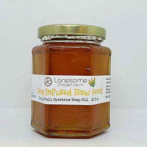 Full Spectrum Hemp Infused Raw Honey 12 oz