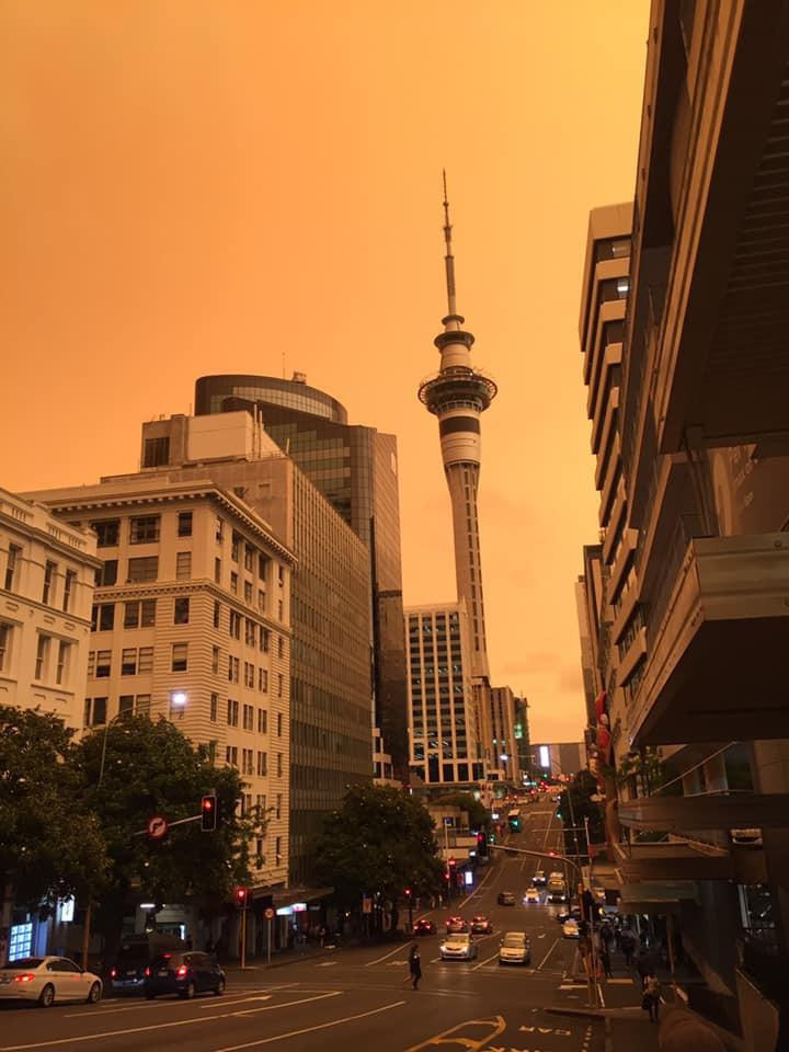 the red sky in auckland 2020