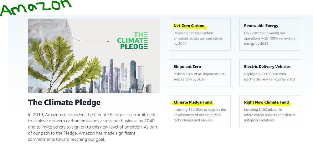 Amazon carbon neutral pledge Hannah Duncan Investment Content