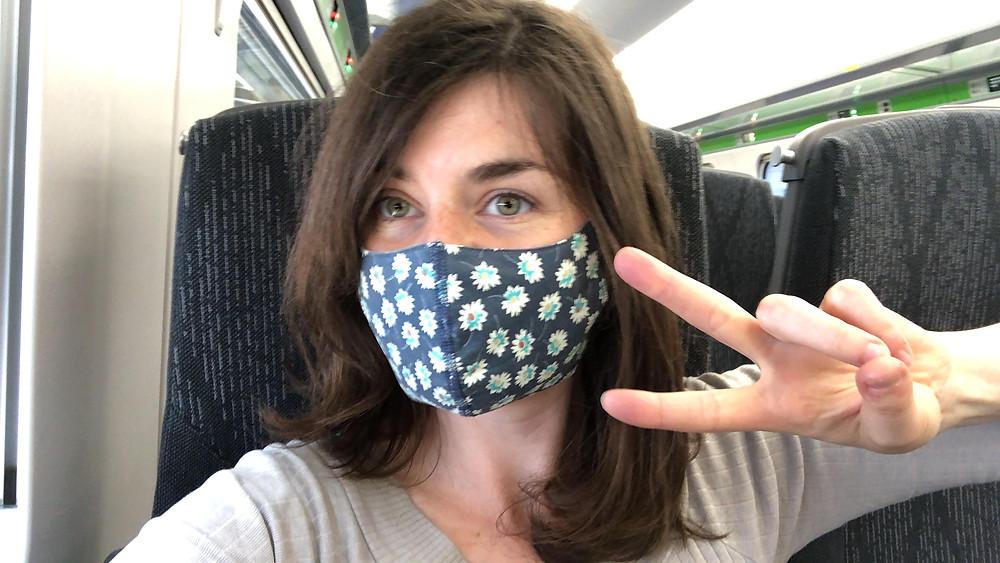 Hannah Duncan on the train - Hannah's blog